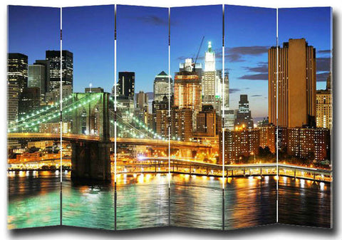 USA Room Divider Screen - 6 Panel