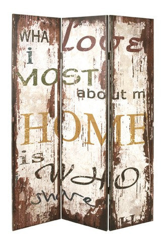 Vintage Home Room Divider Screen