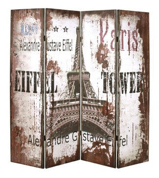 Vintage Paris Room Divider Screen