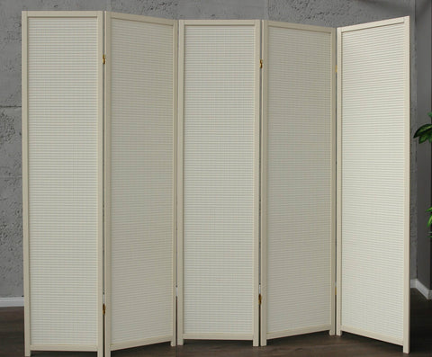 Cremo Wood Room Divider - 5 Panel