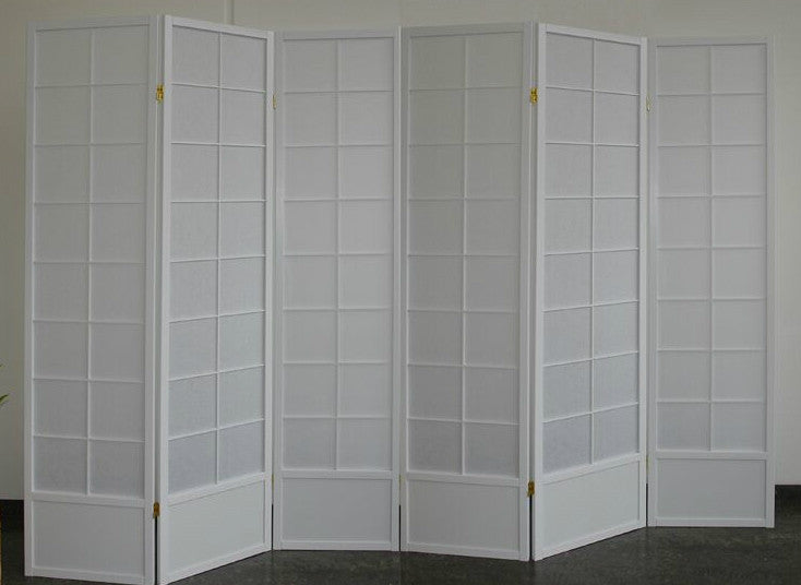 divider screen 6 panel white 190cm 39 s tall room dividers uk