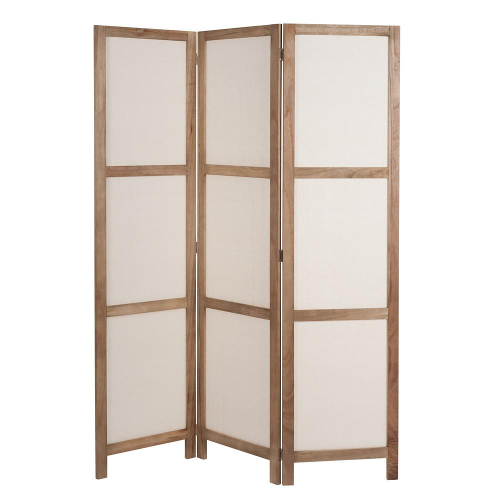 Plaisance Wood & Fabric Folding Screen