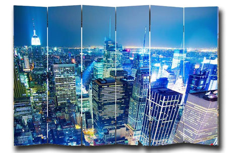 USA - Taxi Room Divider Screen - 6 Panel