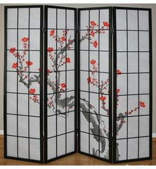 Cherry Tree Shoji Screen - 4 Panel