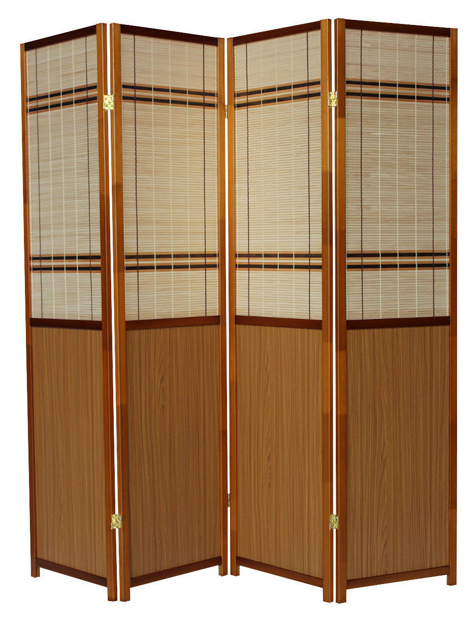 Oak Panel Room Divider Screen - 4 Panel