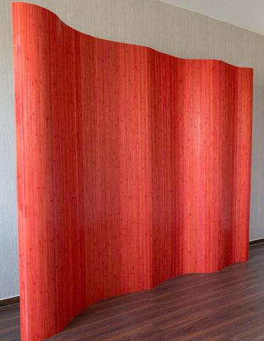 Bamboo Flexible Room Divider - Red