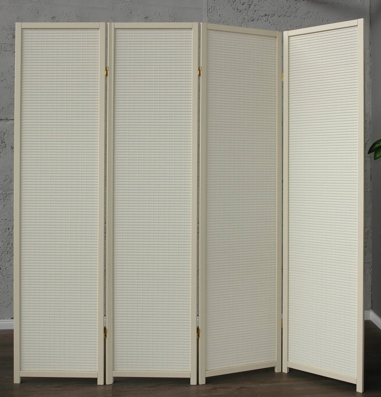 Cremo Wood Room Divider - 4 Panel