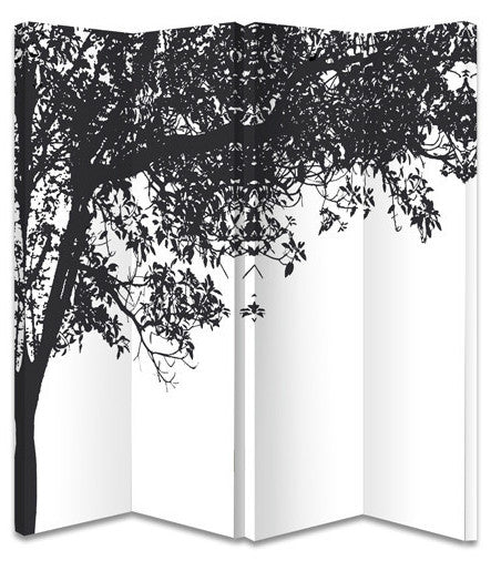 Trees Silhouette Room Divider Screen
