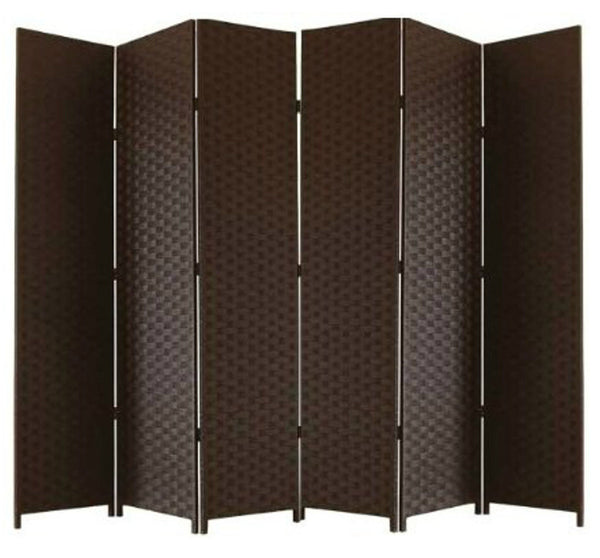 Brown Entwine Room Divider Screen - 6 Panel