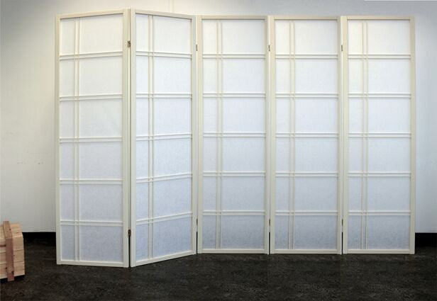 Shiro Room Divider Screen - Cremo - 5 Panel