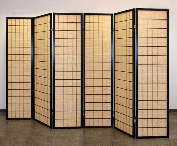 Incredible Choko Wood Line Room Divider Screen 6 Panel Download Free Architecture Designs Embacsunscenecom
