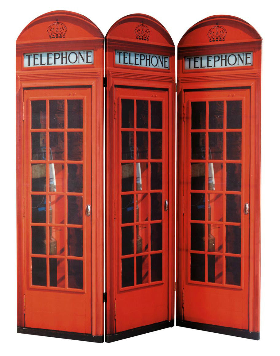 Red Telephone Box Room Divider