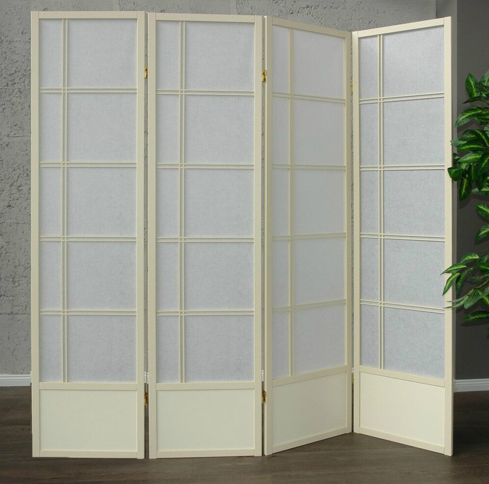 Akio Room Divider Screen - Cremo - 4 Panel