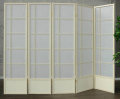 Akio Room Divider Screen - Cremo - 5 Panel