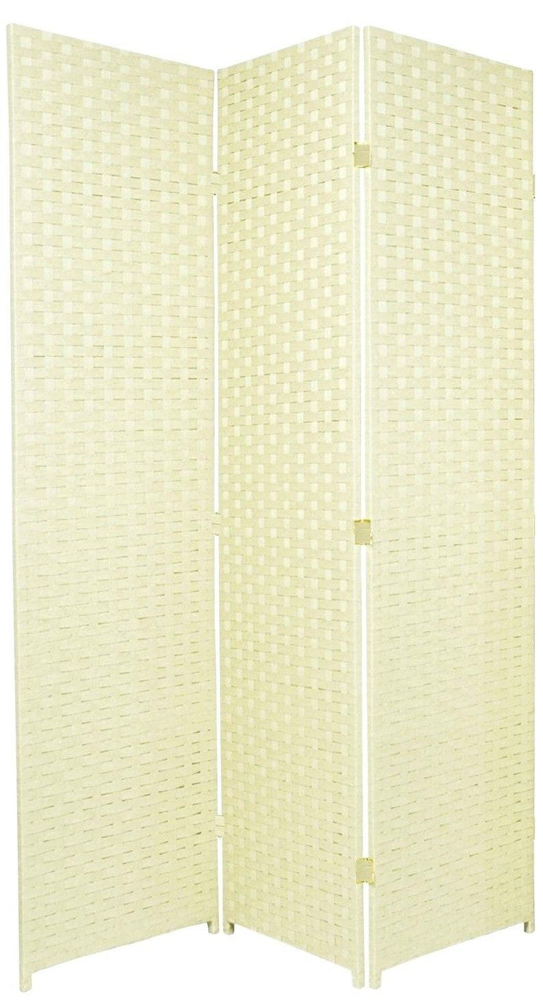 Entwine Ivory Colour Room Divider Screen - 3 Panel