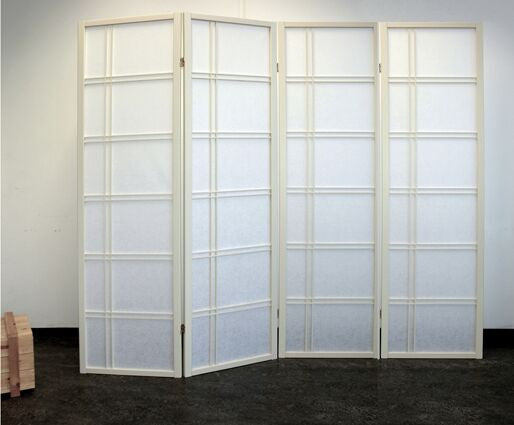 Shiro Room Divider Screen - Cremo - 4 Panel