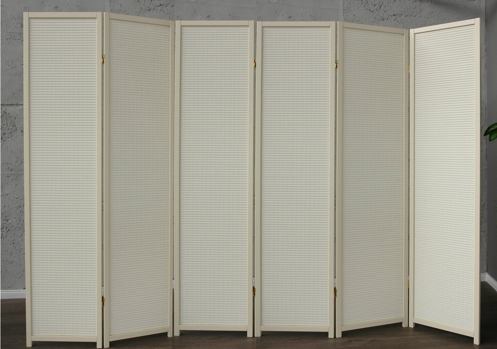 Cremo Wood Room Divider - 6 Panel