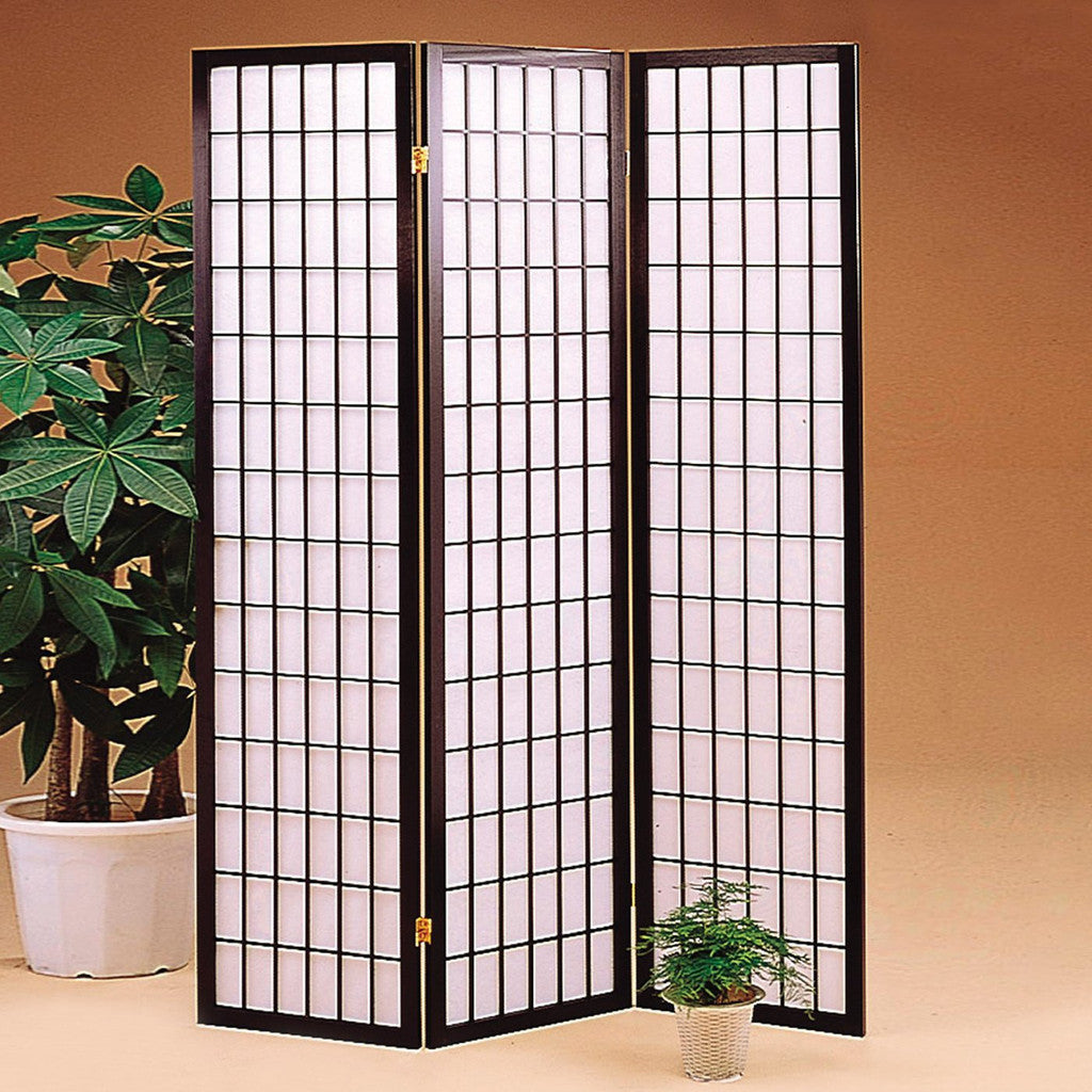 room divider screen 3 panel dark brown room dividers uk