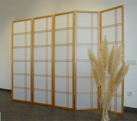 Shiro Room Divider Screen - Natural - 5 Panel
