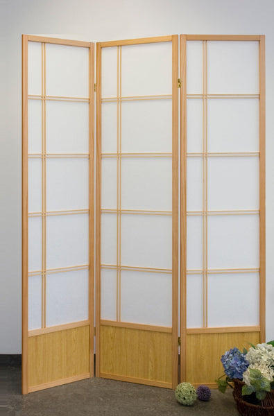 Akio Room Divider Screen - Natural - 3 Panel