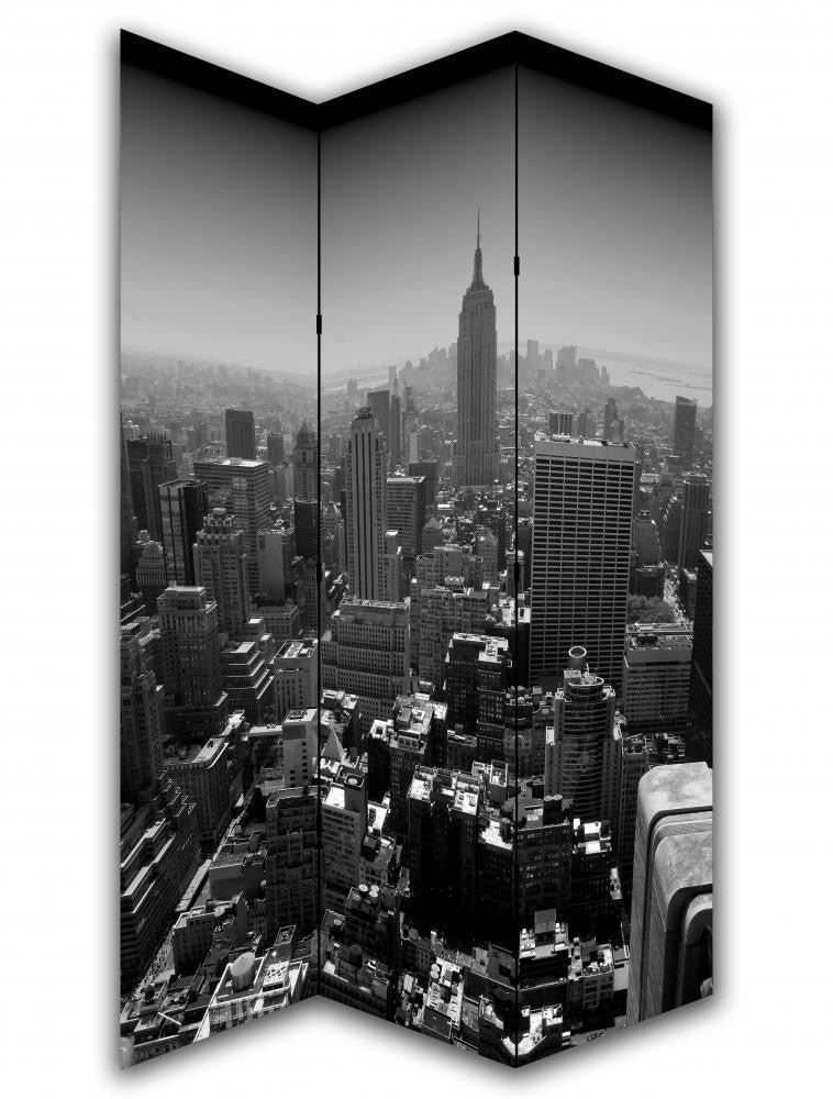 New York Black & White Room Divider Screen