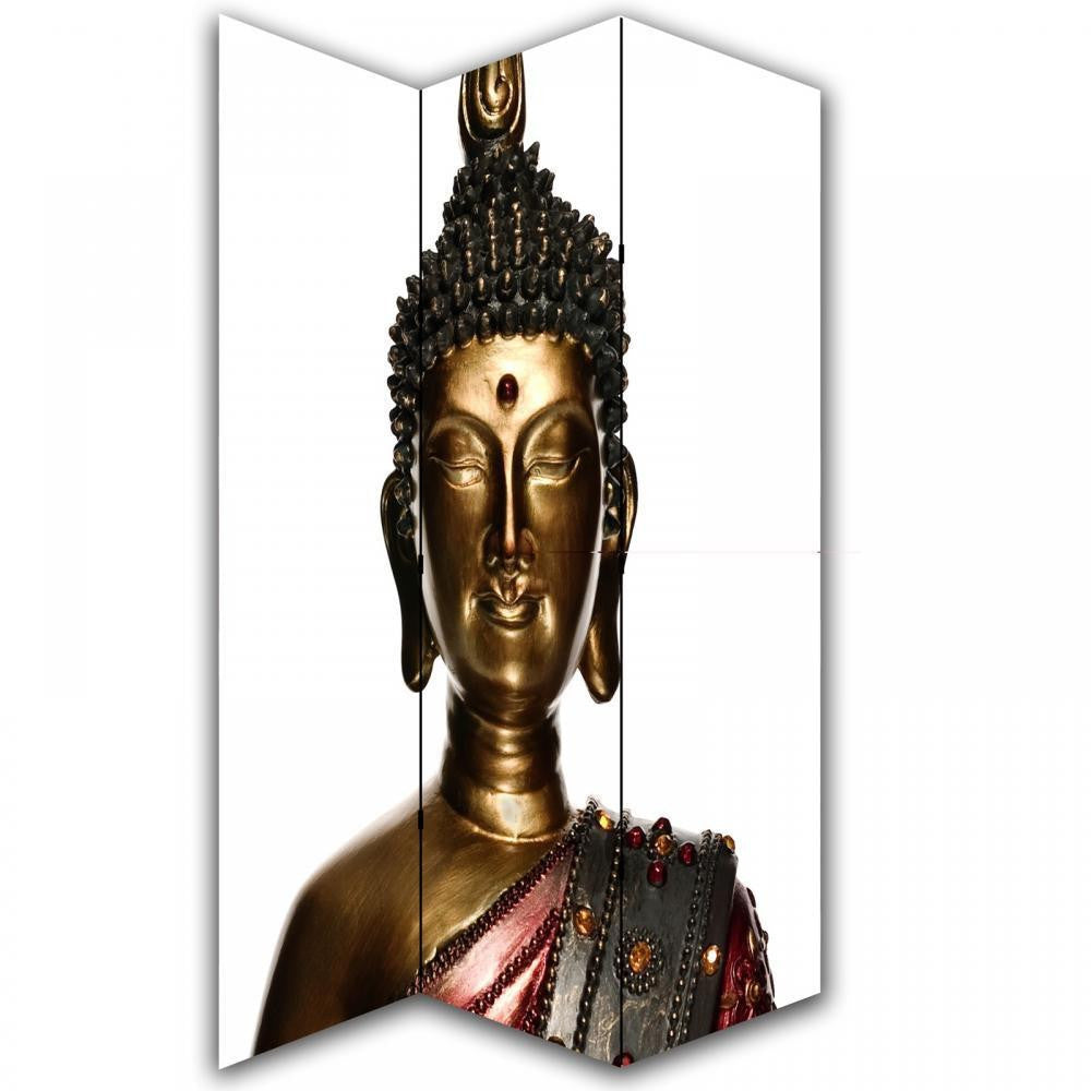 Buddha Statue Room Divider Screen