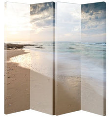 Beach Canvas Room Divider Screen