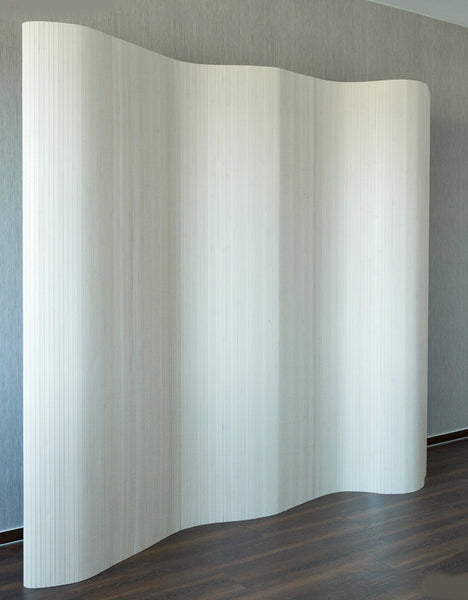 Bamboo Flexible Room Divider - White