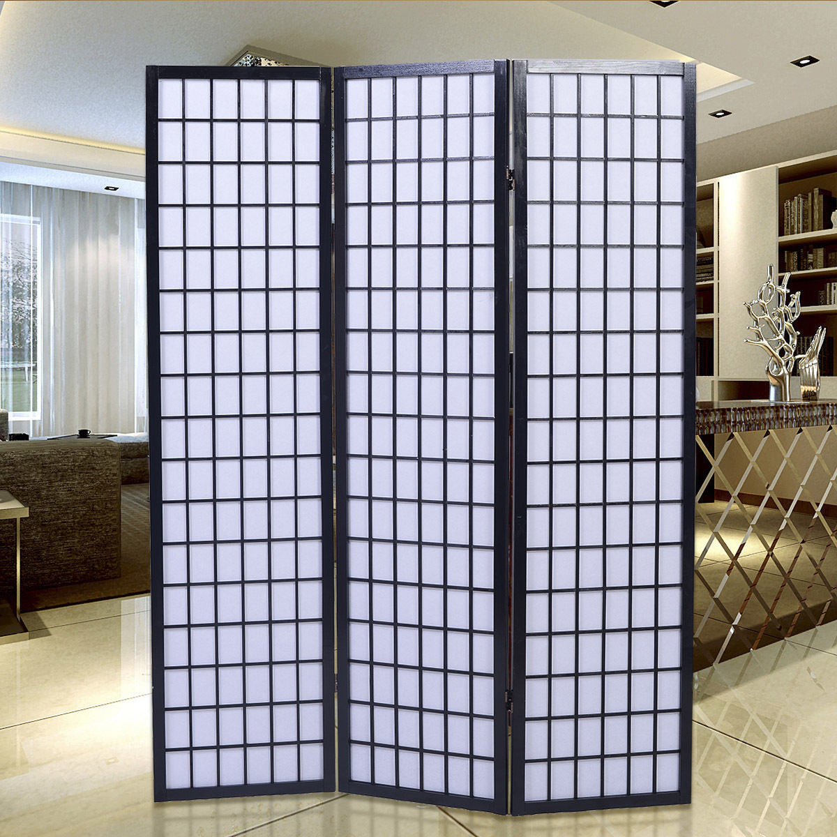 folding room divider screen 3 panel black room dividers uk