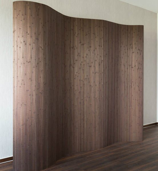Bamboo Flexible Room Divider - Brown