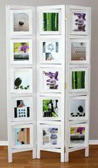 Photo Wall Room Divider Screen - White