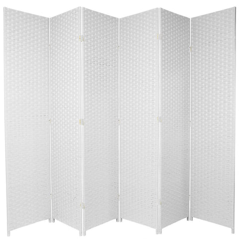 Entwine White Colour Room Divider Screen - 6 Panel