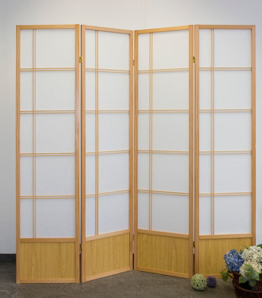 Natural 4 panel akio room divider screen for sale room for Partition room divider for sale