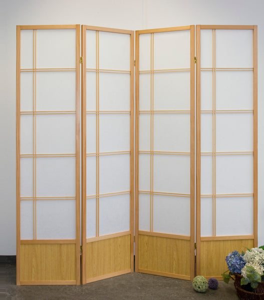 Akio Room Divider Screen - Natural - 4 Panel