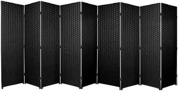 Black Entwine Room Divider Screen - 9 Panel