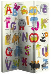 Alphabet Folding Canvas Room Divider Screen