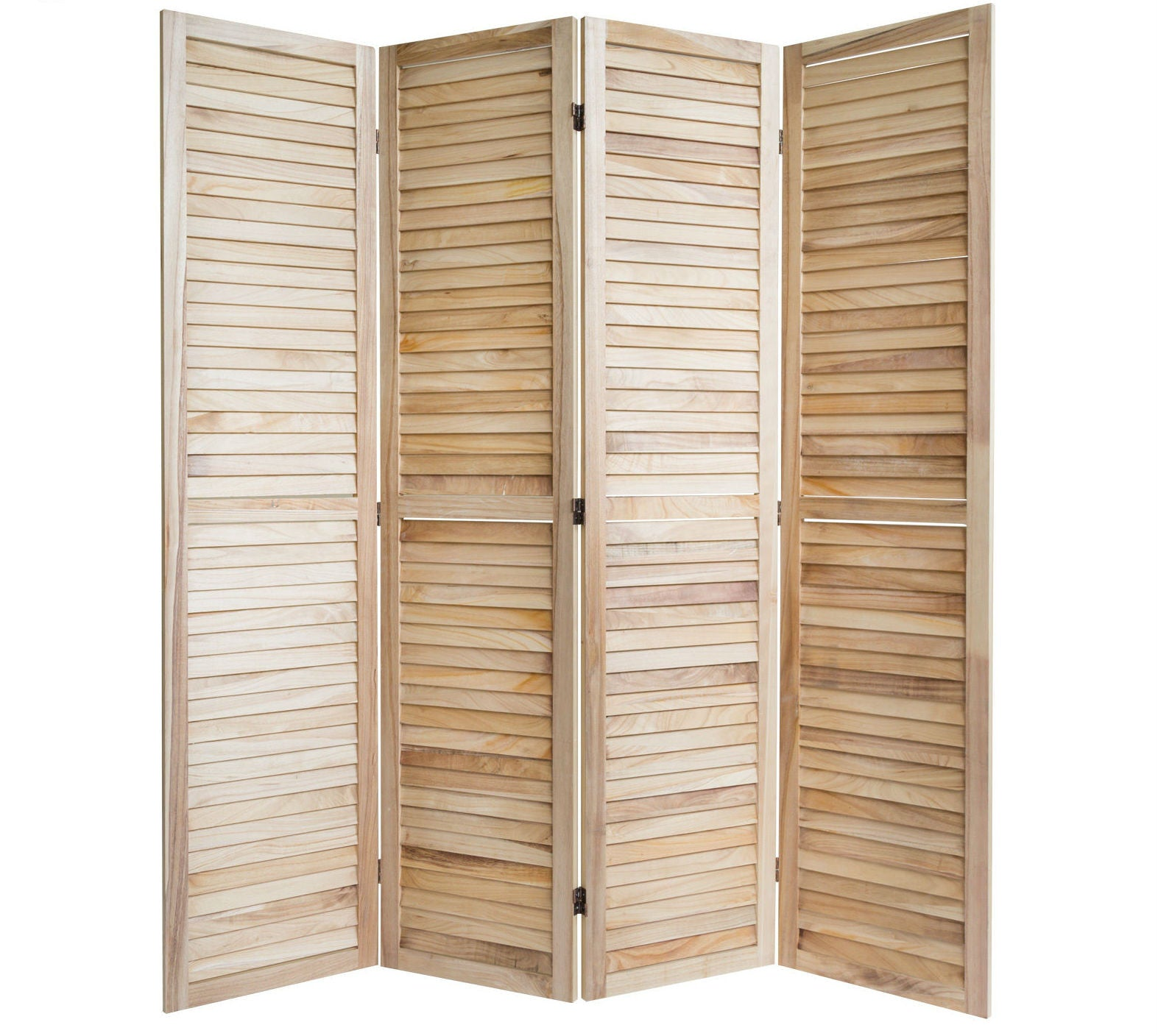Paravent Wooden Slat Room Divider Screen - 4 Panel