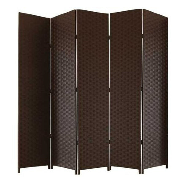 Entwine Brown Colour Room Divider Screen - 5 Panel