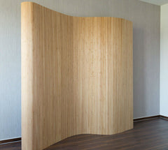 Bamboo Flexible Room Divider - Light Brown