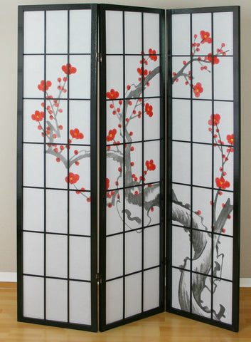 Cherry Tree Blossom Shoji Screen - 3 Panel