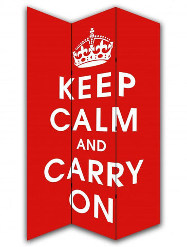 Keep Calm and Carry On Room Divider Screen