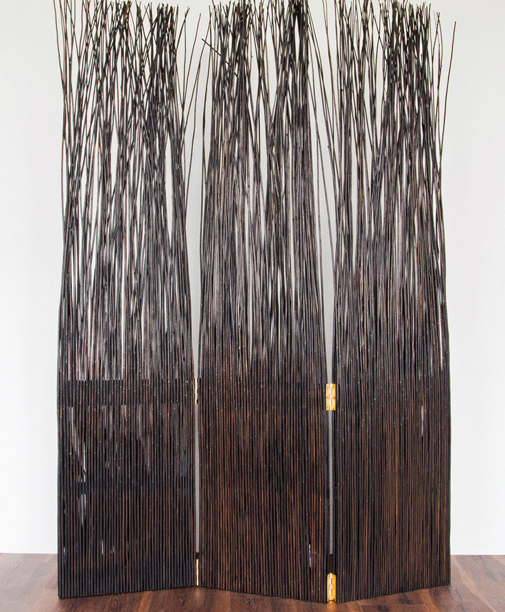Loose Wicker Room Divider - Brown