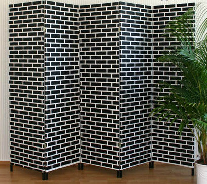 Black Brick Room Divider Screen