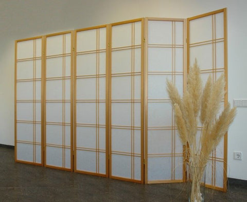 Shiro Room Divider Screen - Natural - 6 Panel