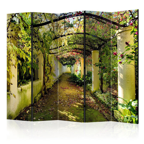 Double Sided Abstract Path Room Divider Screen - 5 Panel