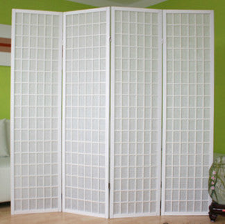 Window Pane Shoji Screen - White
