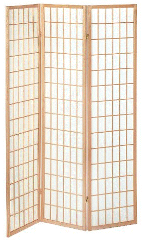 Shoji Folding Room Divider Screen - 3 Panel - Natural