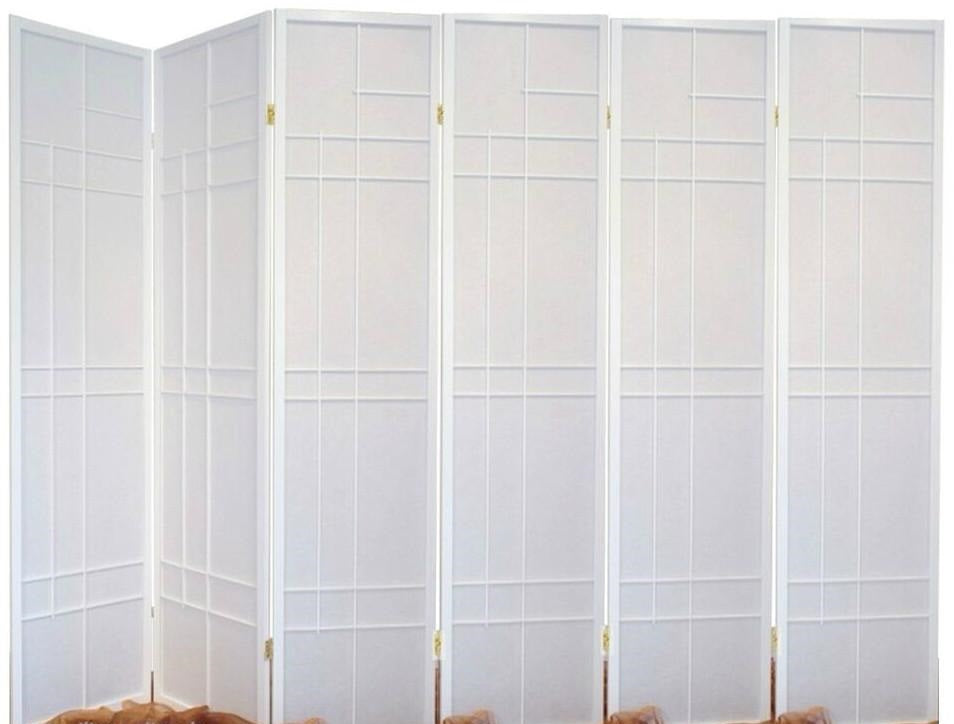 Trend Room Divider Screen - White - 6 Panel
