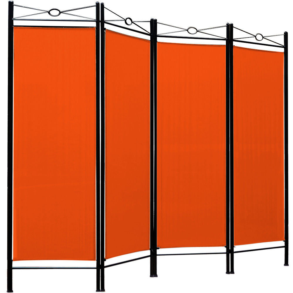 Spanish 4 Panel Room Divider Screen - Orange