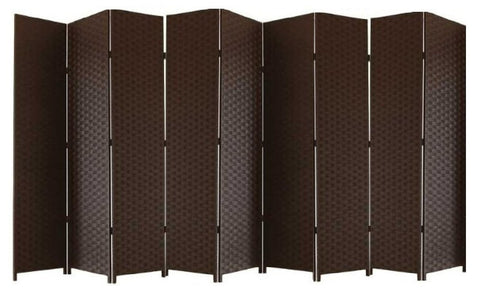 Brown Entwine Room Divider Screen - 9 Panel